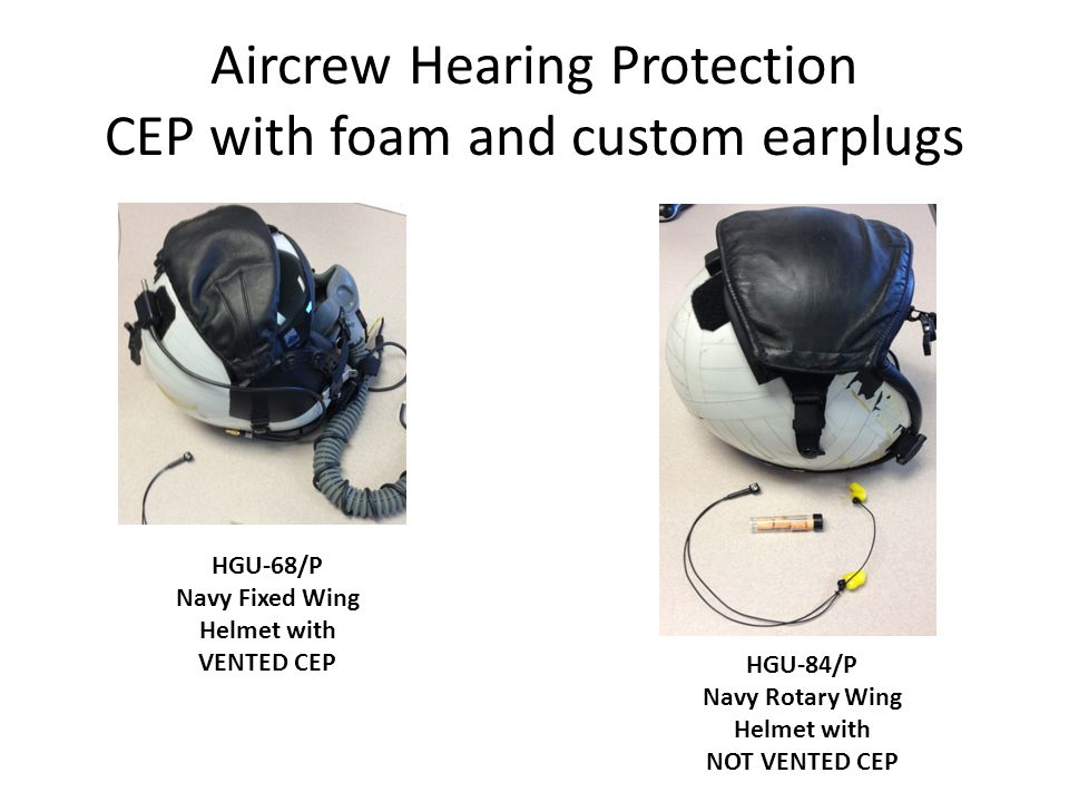 Aircrew Hearing Protection CEP with foam and custom earplugs