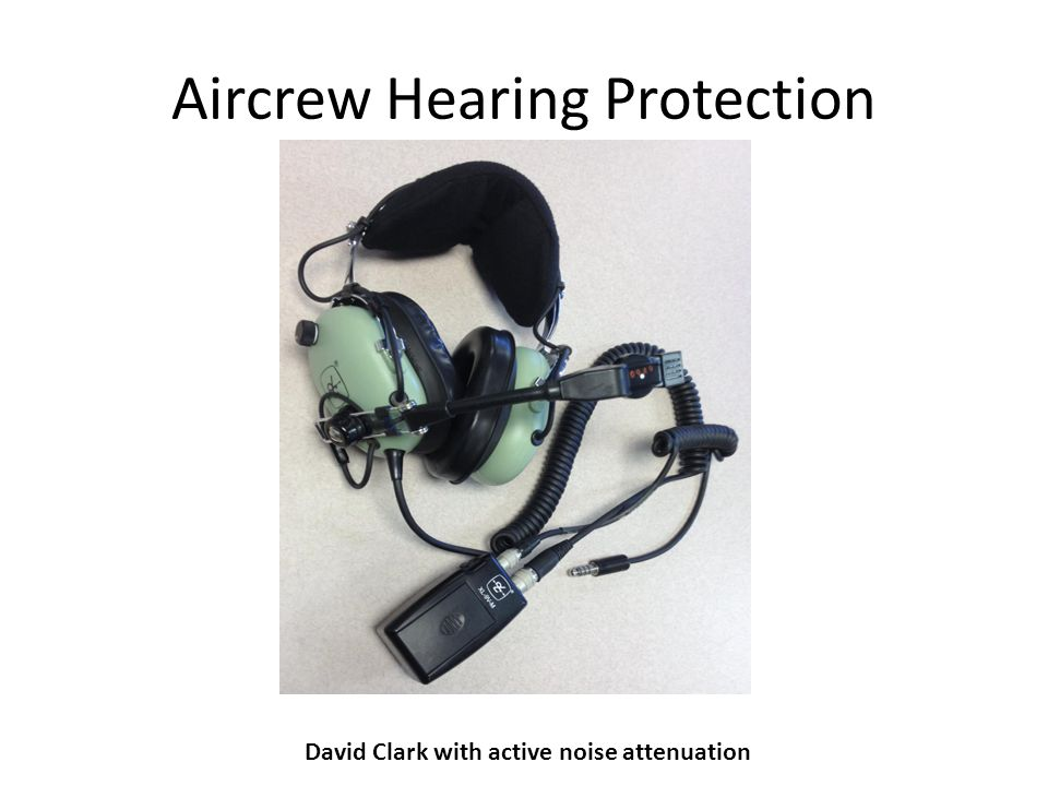Aircrew Hearing Protection