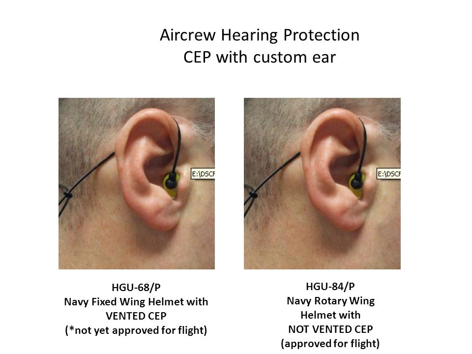 Aircrew Hearing Protection CEP with custom ear