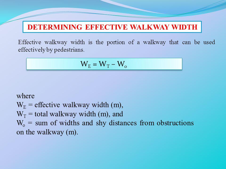 DETERMINING EFFECTIVE WALKWAY WIDTH