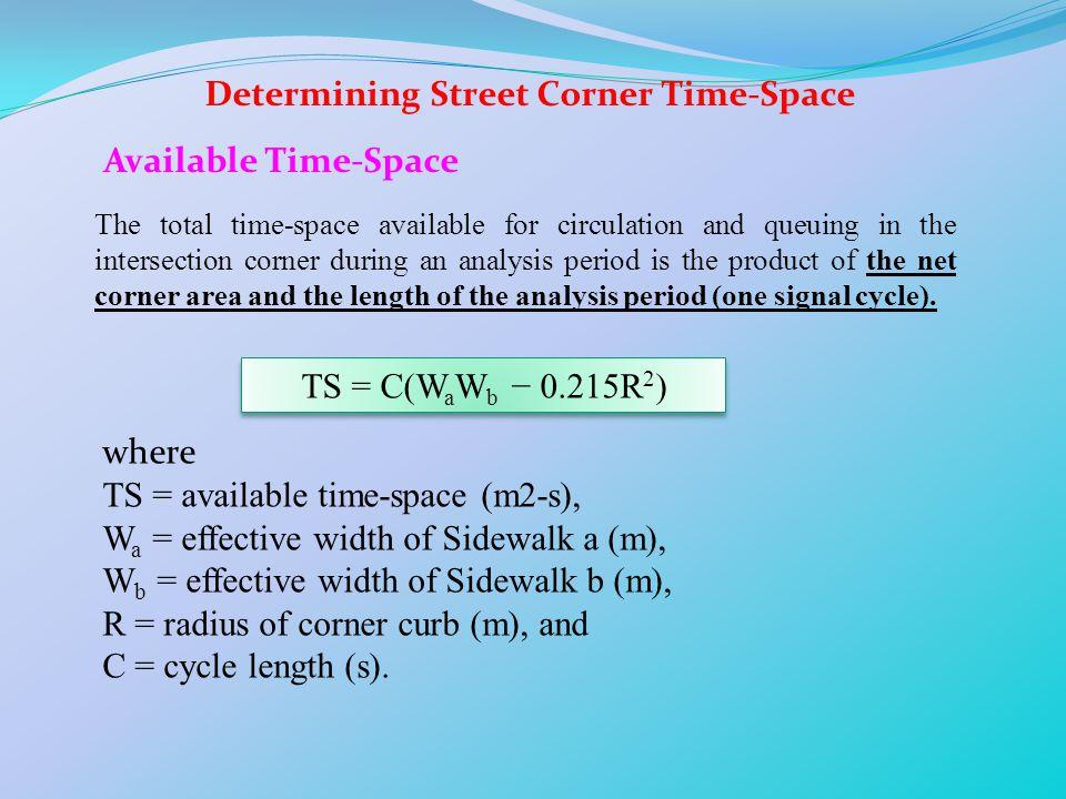 Determining Street Corner Time-Space