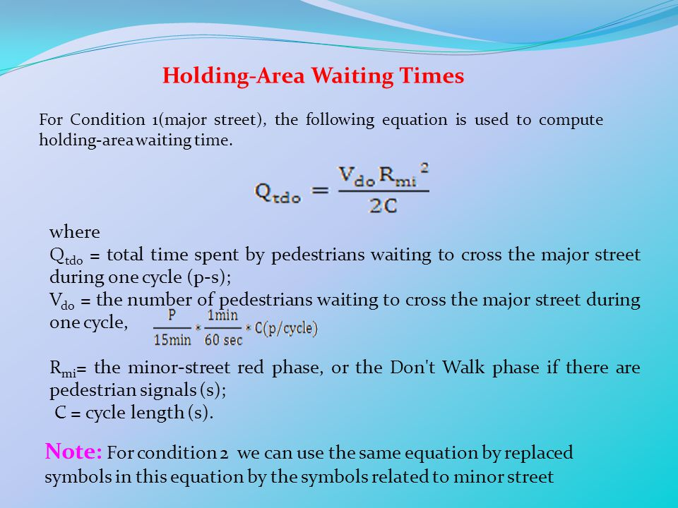 Holding-Area Waiting Times