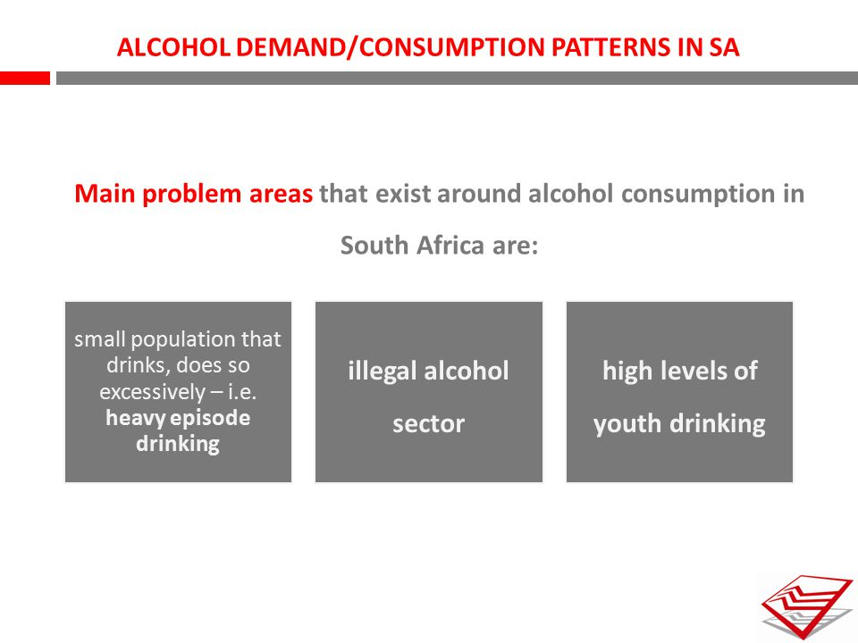 ALCOHOL DEMAND/CONSUMPTION PATTERNS IN SA