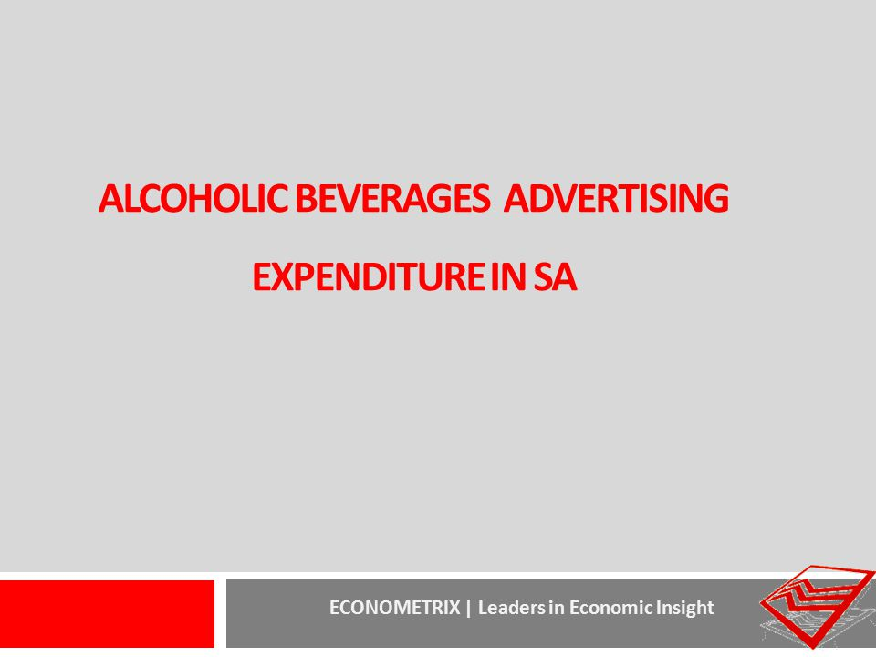 alcoholIC beverages advertising expenditure in SA