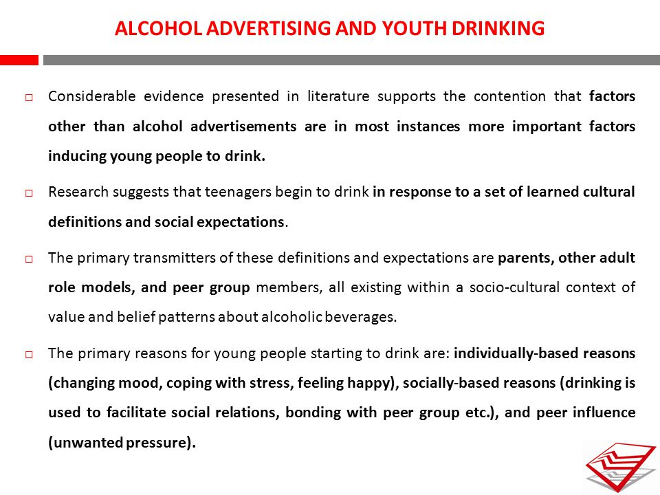 ALCOHOL ADVERTISING AND YOUTH DRINKING