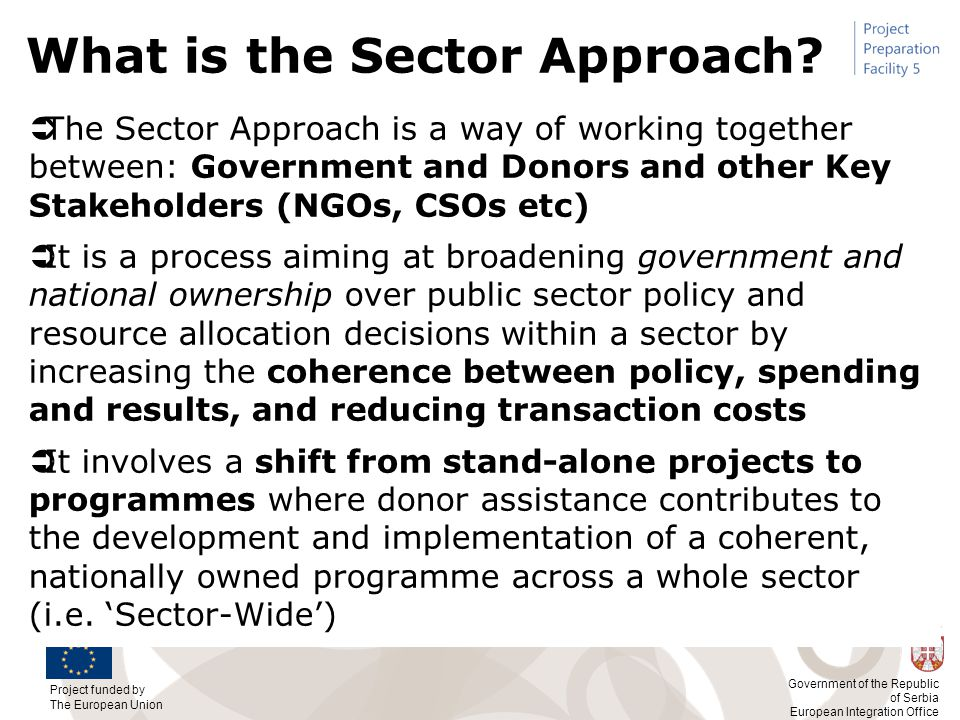 What is the Sector Approach