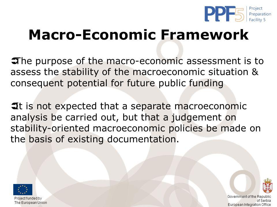 Macro-Economic Framework