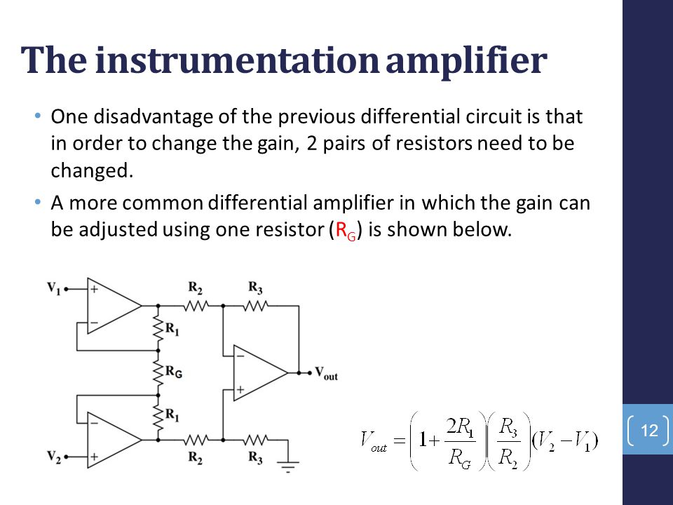 The instrumentation amplifier