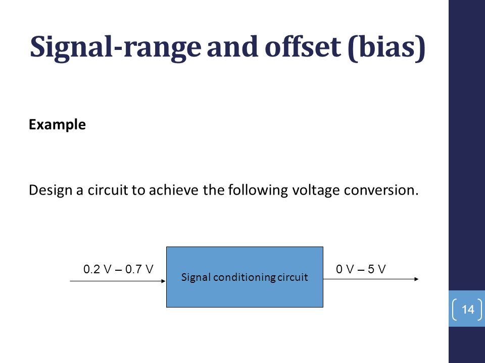 Signal-range and offset (bias)