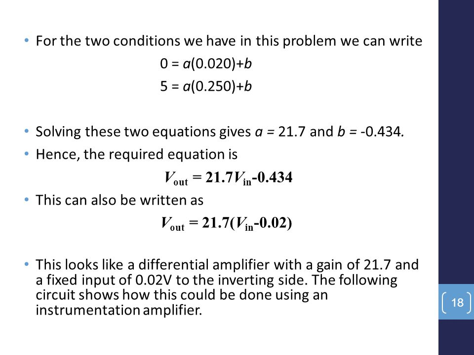 For the two conditions we have in this problem we can write