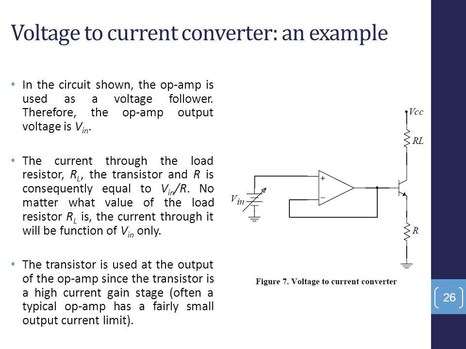 Voltage to current converter: an example