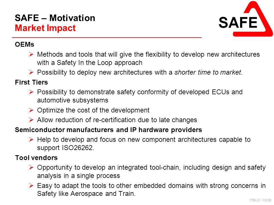 SAFE – Motivation Market Impact
