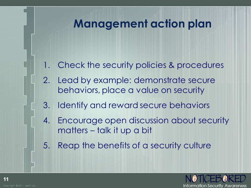 Management action plan