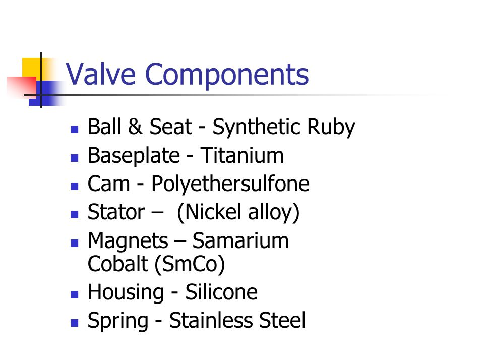 Valve Components Ball & Seat - Synthetic Ruby Baseplate - Titanium