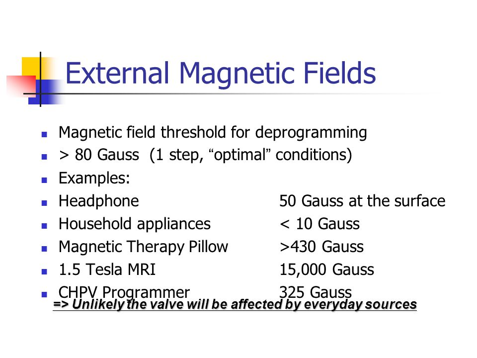 External Magnetic Fields