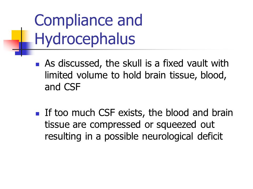Compliance and Hydrocephalus