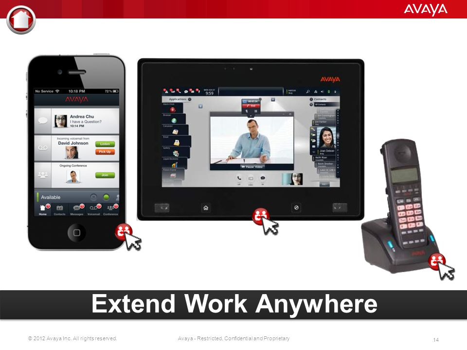 IP Office easily and securely integrates with most popular smart devices, bringing full desktop communication capabilities to employees no matter where they go. Employees can be more productive. Businesses can save by reducing company-owned mobile devices. In addition, our IP, digital and SIP wireless phones are sleek and durable and let you take all the capabilities of IP Office with you when you roam large facilities where cell service signals are insufficient.