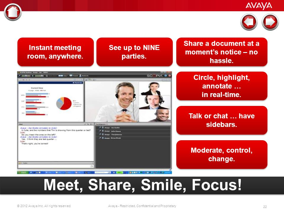 Meet, Share, Smile, Focus! Instant meeting room, anywhere.