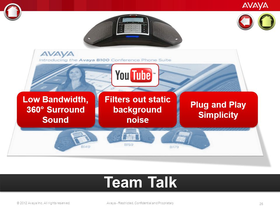 Team Talk Low Bandwidth, 360° Surround Sound