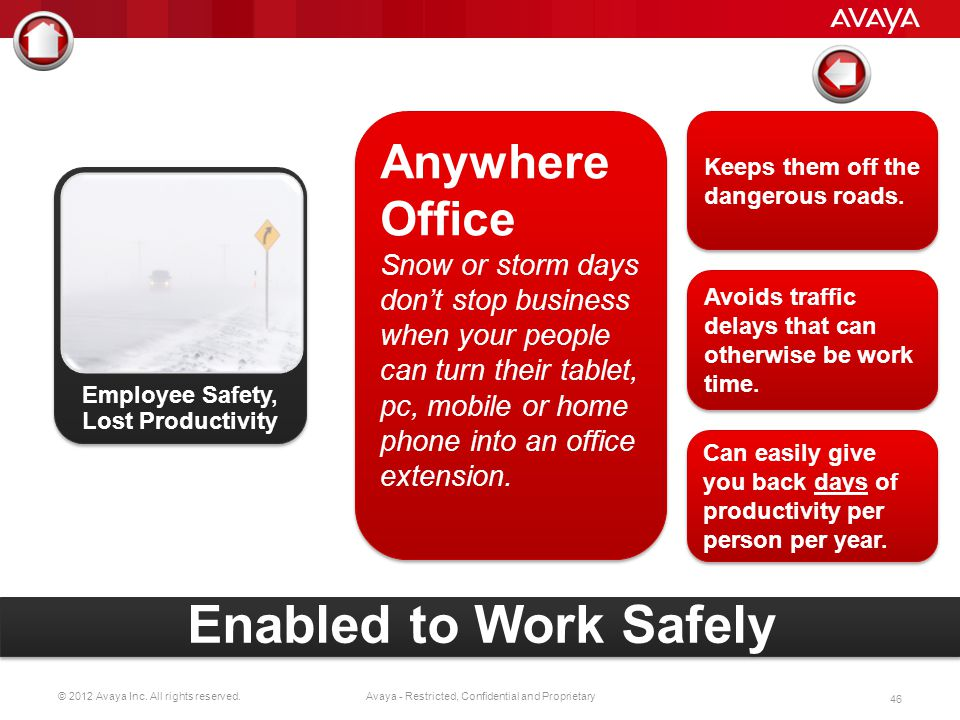 Employee Safety, Lost Productivity