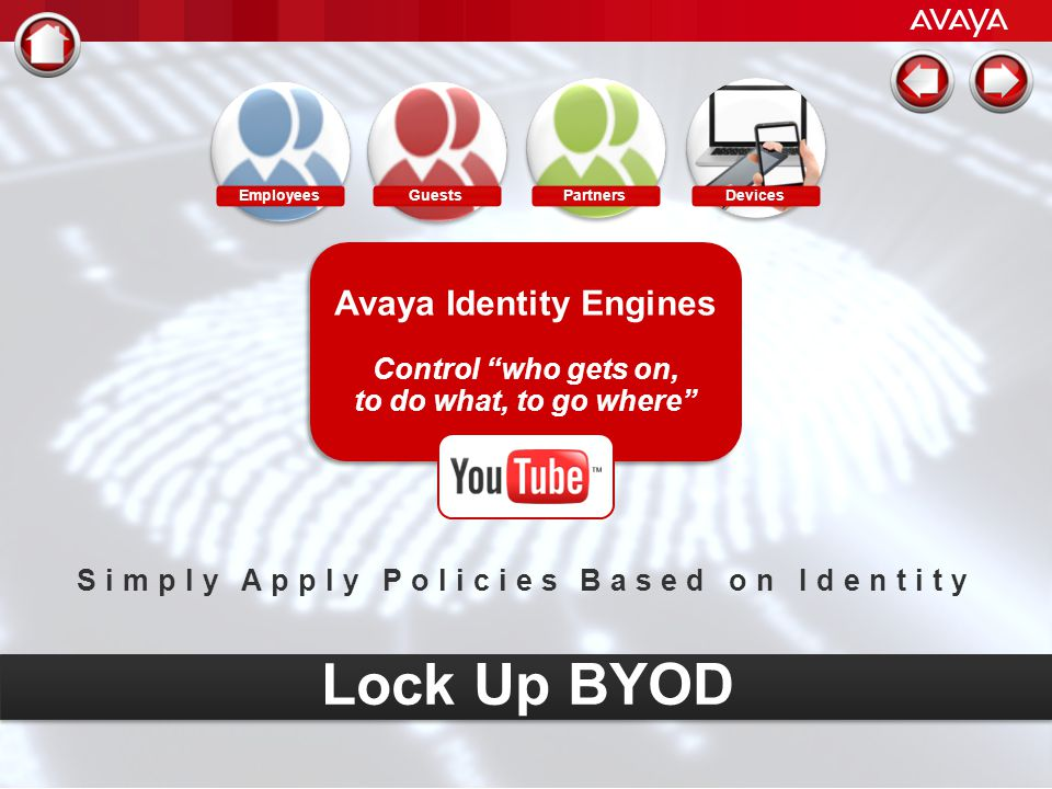 Avaya Identity Engines Simply Apply Policies Based on Identity
