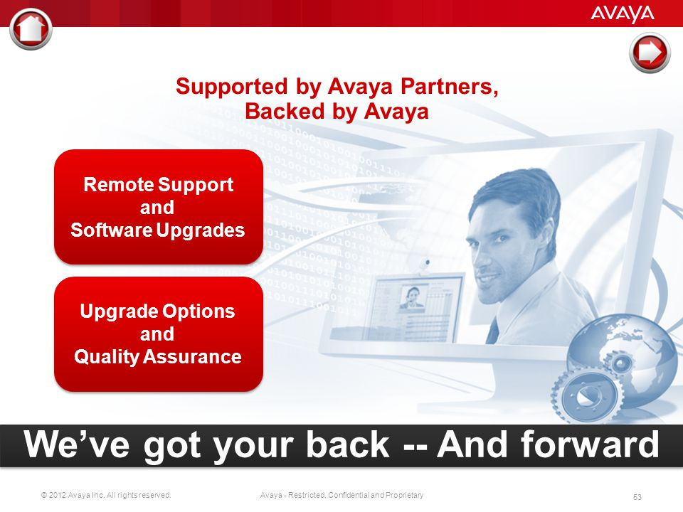 Supported by Avaya Partners,