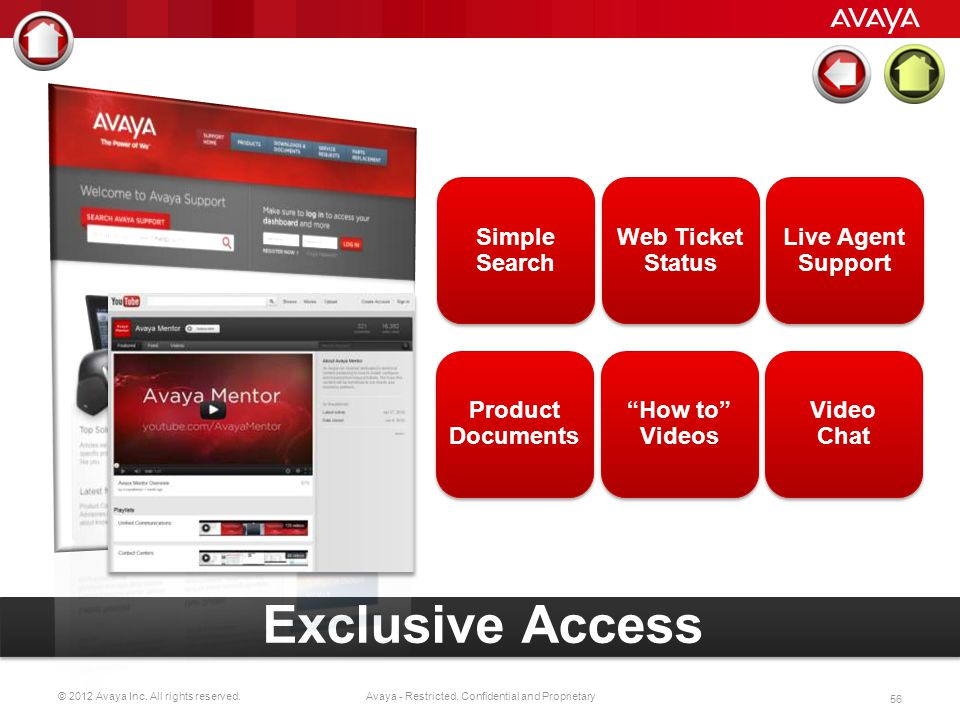 Exclusive Access Simple Search Web Ticket Status Live Agent Support