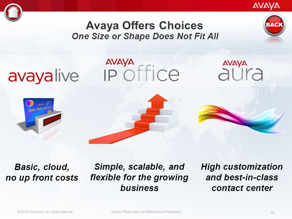 Avaya Offers Choices One Size or Shape Does Not Fit All