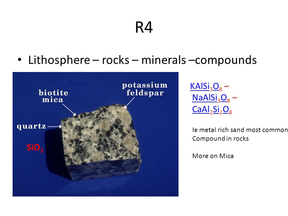 R4 Lithosphere – rocks – minerals –compounds