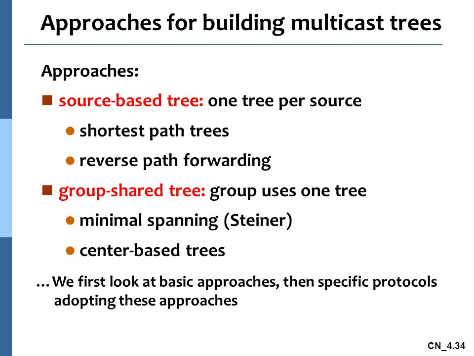 Approaches for building multicast trees