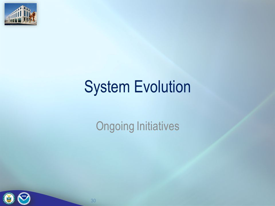 System Evolution Ongoing Initiatives