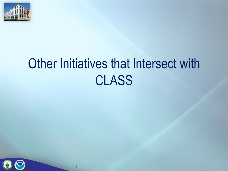 Other Initiatives that Intersect with CLASS
