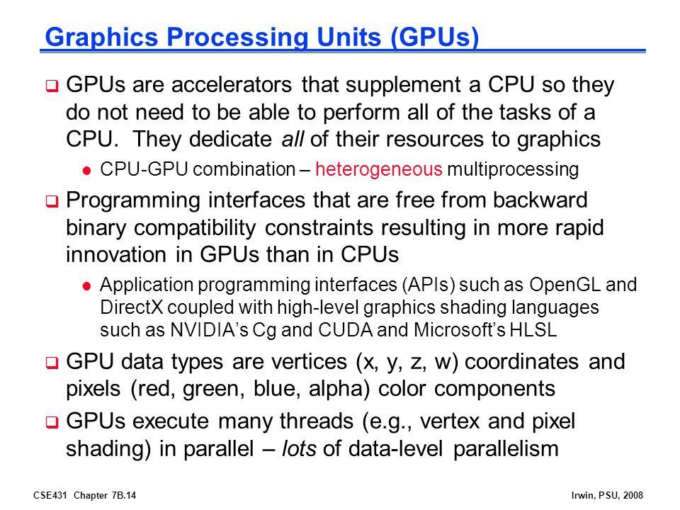 Graphics Processing Units (GPUs)