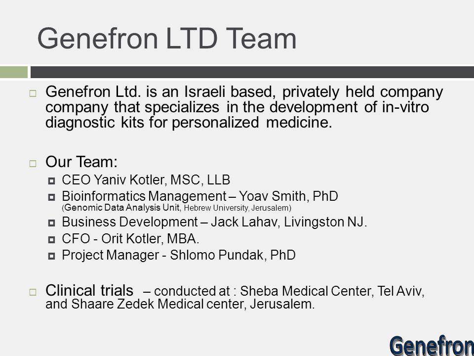Genefron LTD Team
