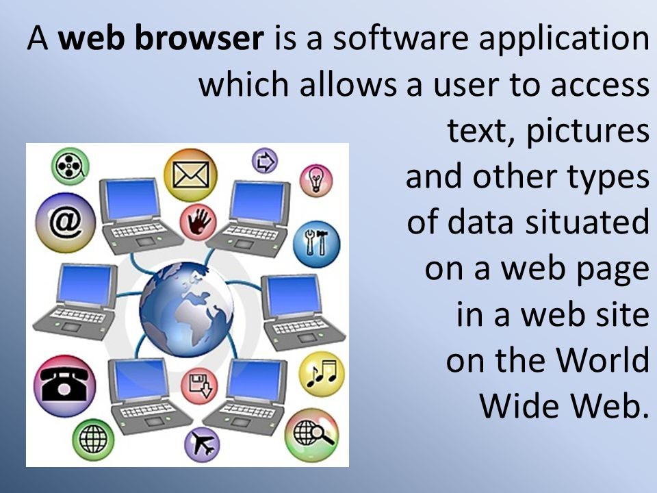 A web browser is a software application. which allows a user to access