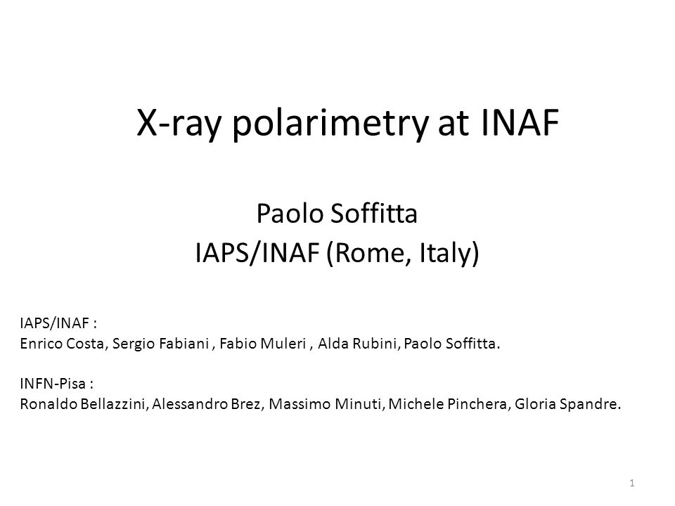 X-ray polarimetry at INAF