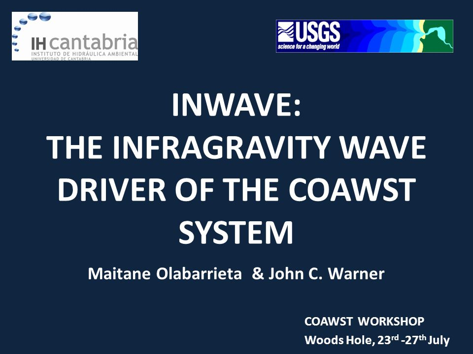 INWAVE: THE INFRAGRAVITY WAVE DRIVER OF THE COAWST SYSTEM