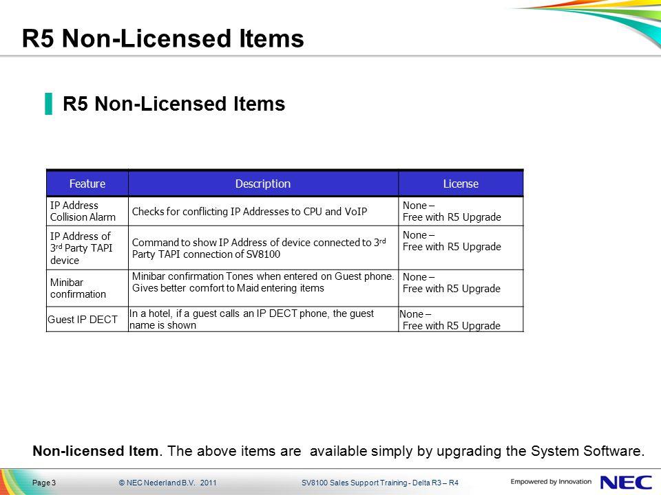 R5 Non-Licensed Items R5 Non-Licensed Items
