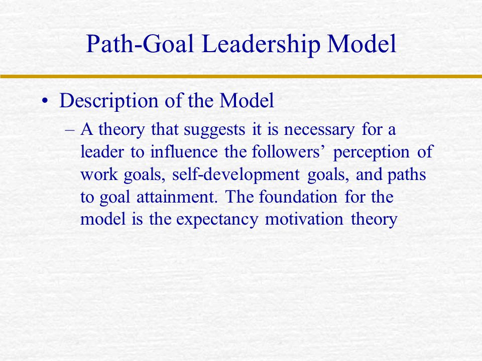 Path-Goal Leadership Model