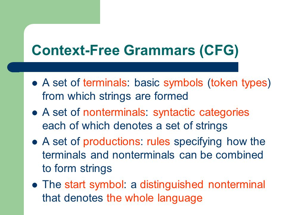 Context-Free Grammars (CFG)