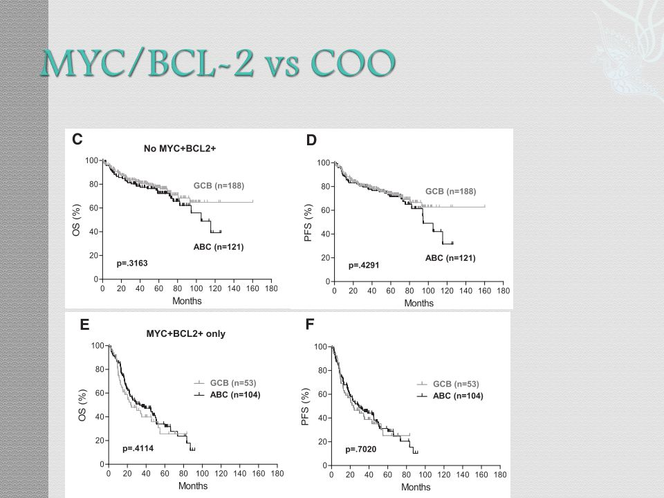 MYC/BCL-2 vs COO