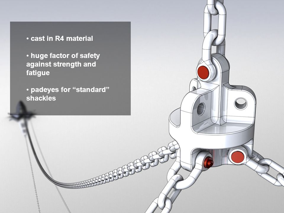 cast in R4 material huge factor of safety against strength and fatigue.