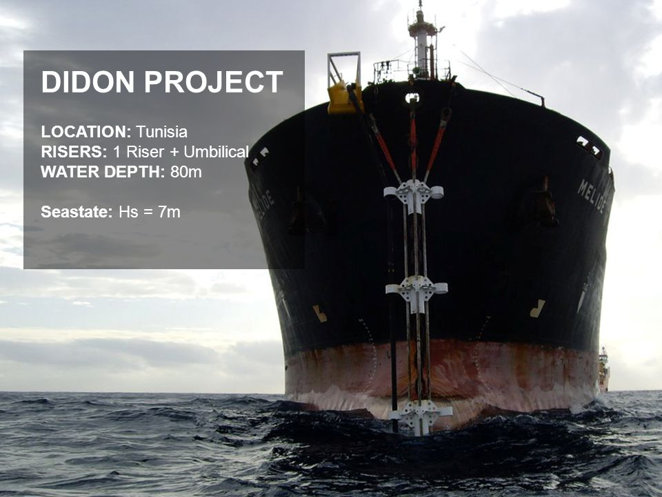 DIDON PROJECT LOCATION: Tunisia RISERS: 1 Riser + Umbilical