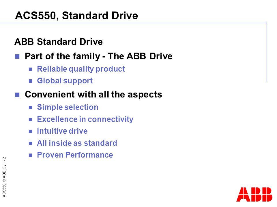 ACS550, Standard Drive ABB Standard Drive