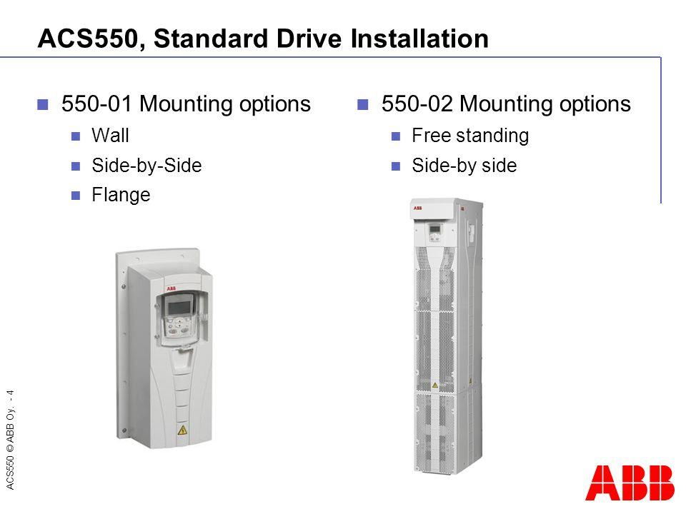 ACS550, Standard Drive Installation