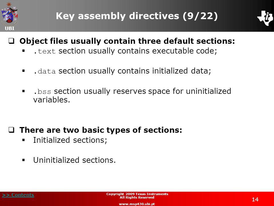 Key assembly directives (9/22)