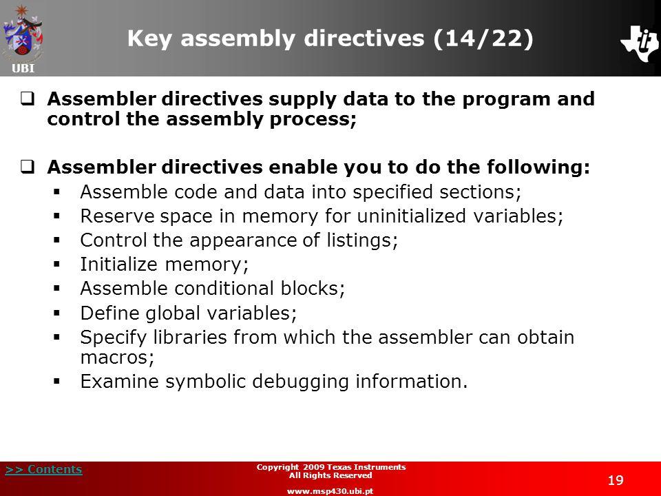 Key assembly directives (14/22)