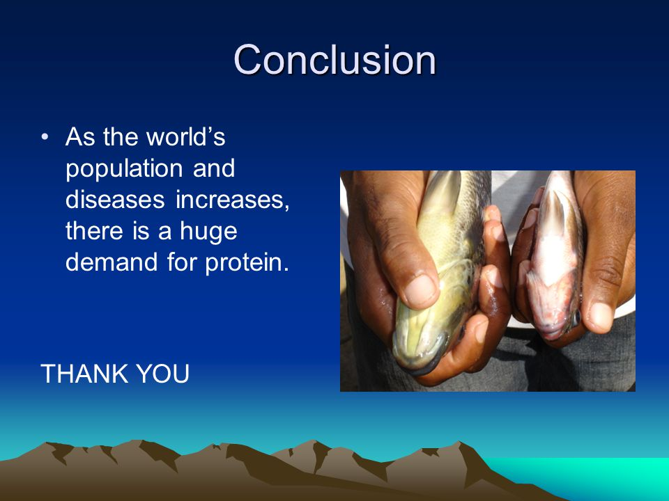 Conclusion As the world's population and diseases increases, there is a huge demand for protein.