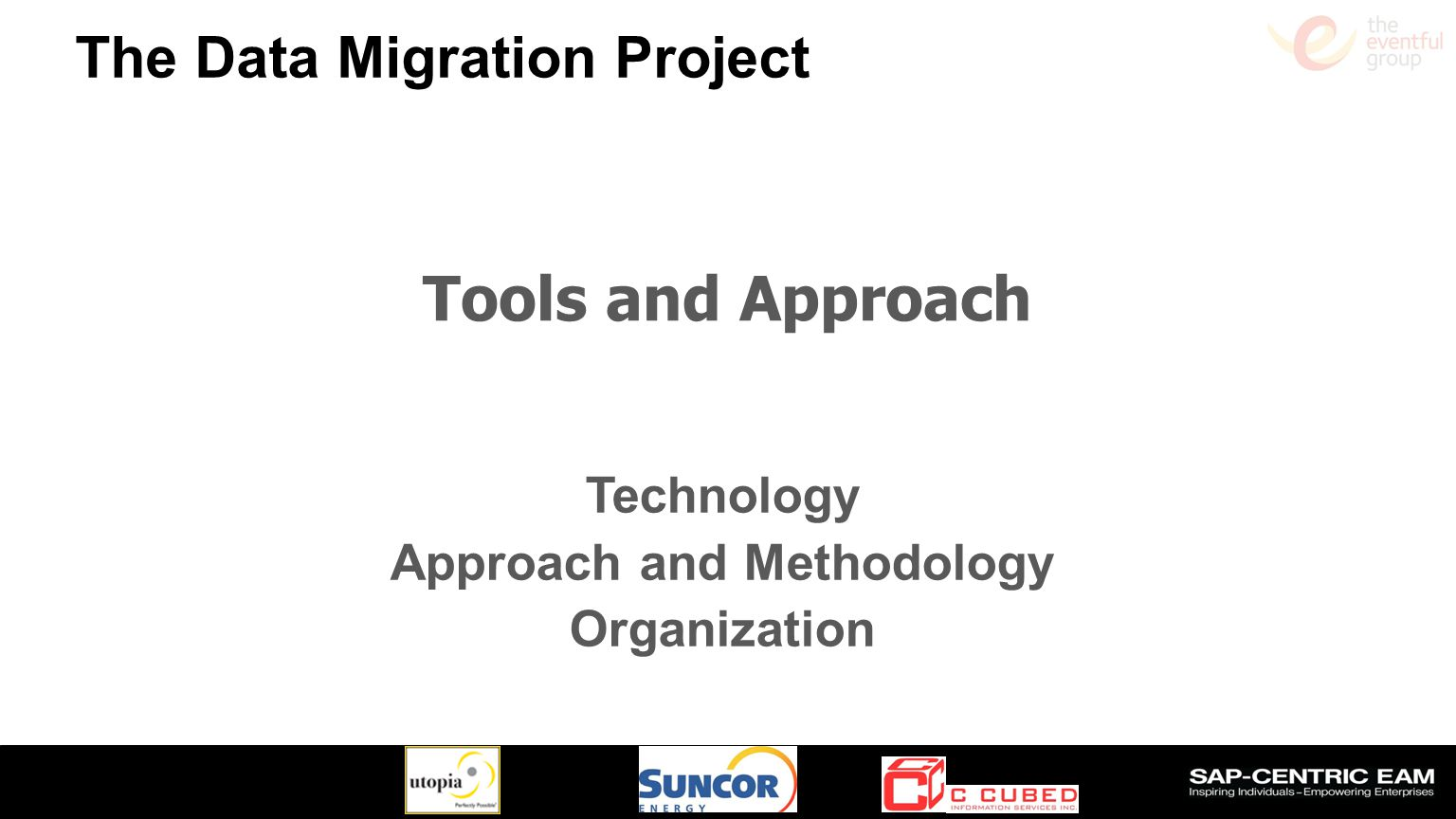 Technology Approach and Methodology Organization