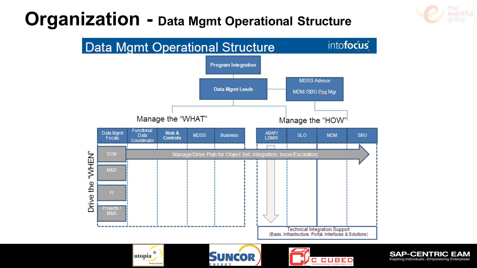 Organization - Data Mgmt Operational Structure
